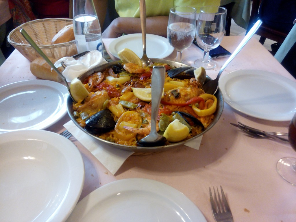 My first taste of Paella at Museo de Jamon