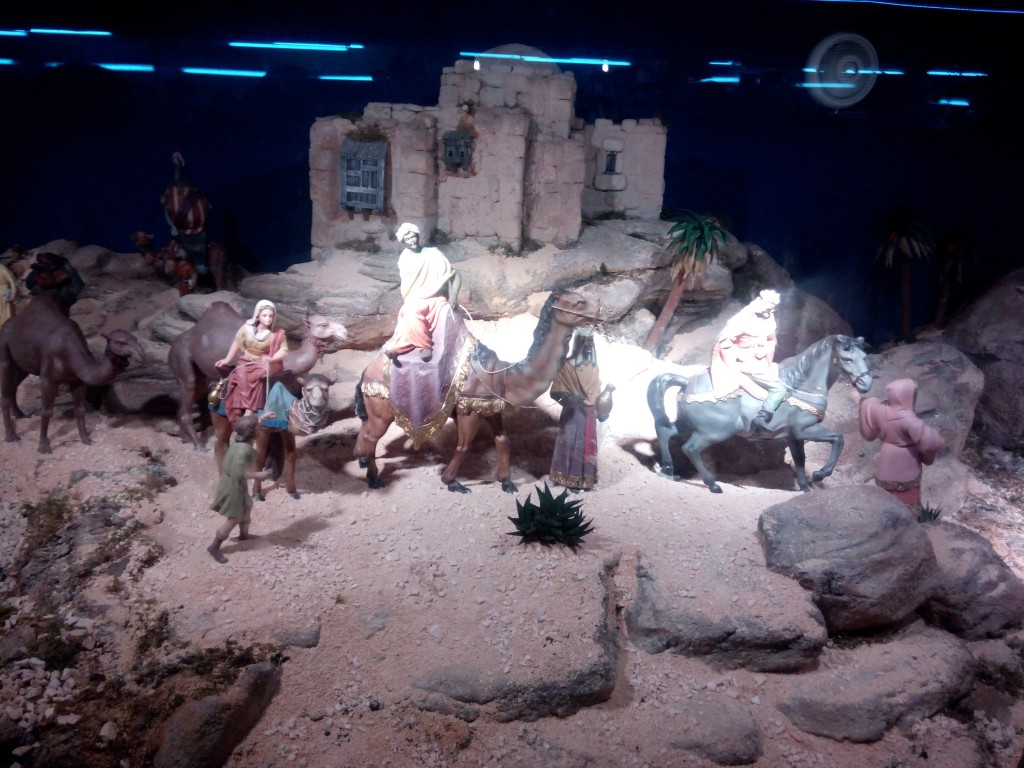 These figures, I presume, are the Magi, Three Wise Men, or Three Kings in search of the Child Jesus.
