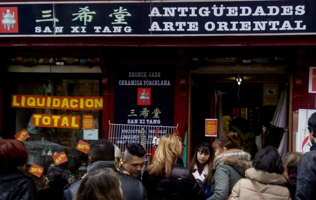 and Chinese Antique wares are sold along Ribera de Curtidores, most frequented street in Rastro