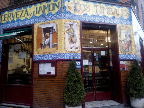 Nearby restaurant, also along Calle de Alcala, is matador-themed Los Timbales