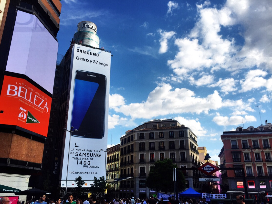 Madrid sites and attractions plaza de callao let 39 s talk for Corte ingles sol madrid