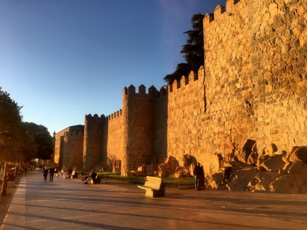 Bright yellow walls of Avila