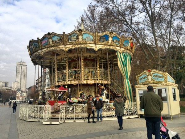 Madrid, Spain, Calle Bailen, carousel